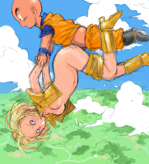 18 android krillin and dbz Zircon land of the lustrous