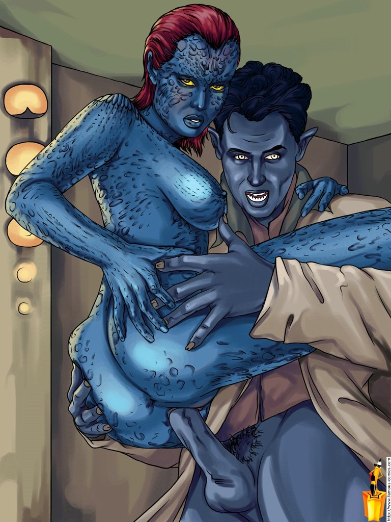 dick blue and red figures Daphne in the brilliant blue nude