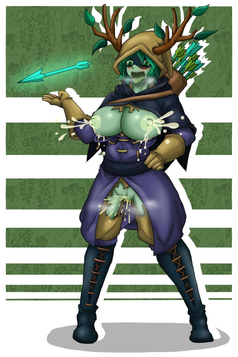 time hentai adventure wizard huntress Half spider half human anime