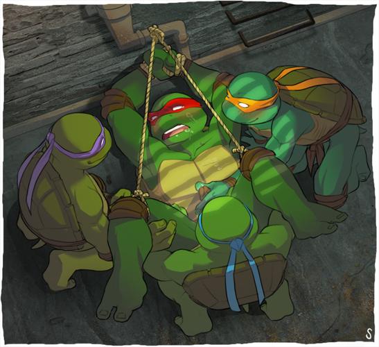 turtles mutant naked ninja teenage K/da ahri gif