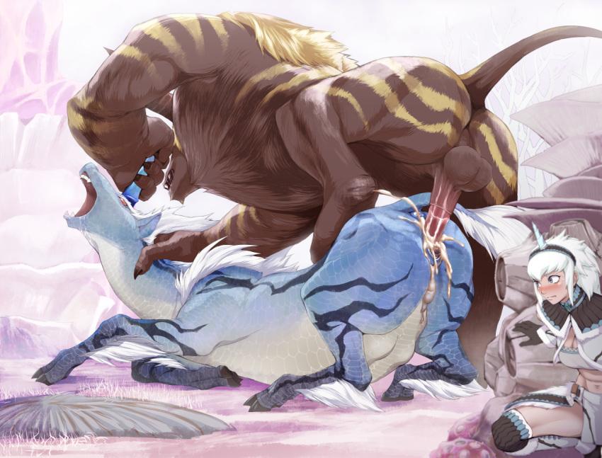 female world monster odogaron hunter armor Nariyuki papakatsu girls!!