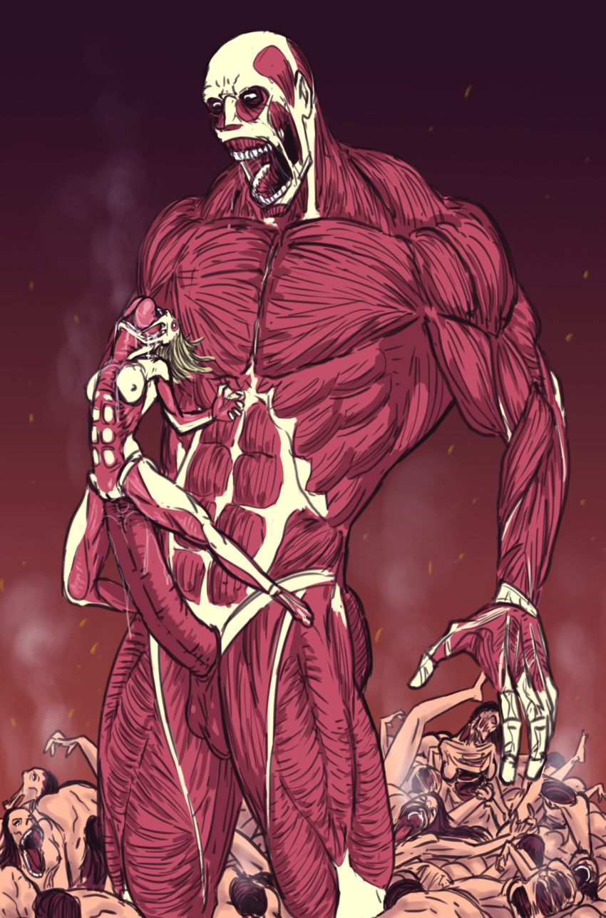 annie naked titan on attack Kissuisou e youkoso the animation