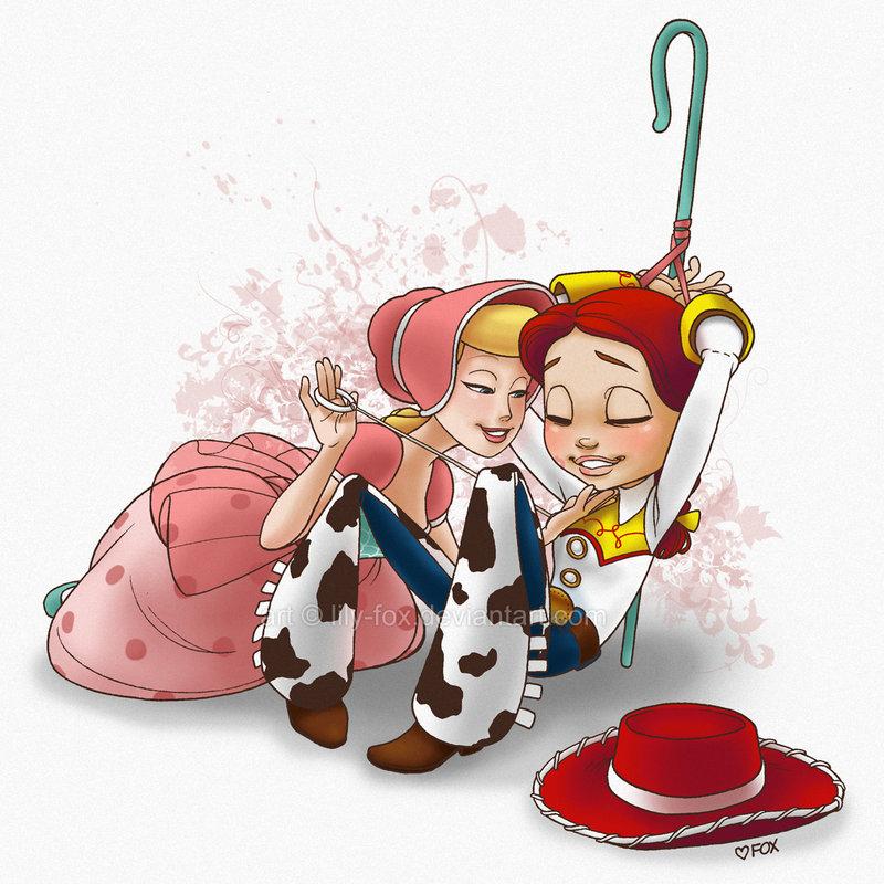 bo and woody peep kiss Garfunkel and oates